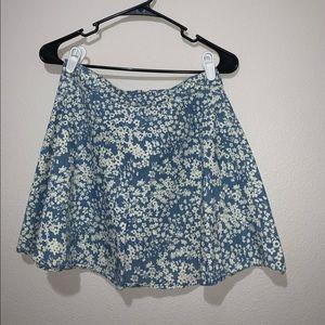 Women's Flowery Skater Skirt